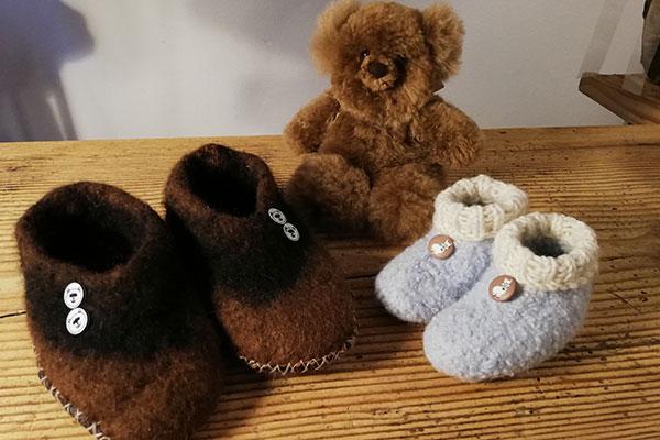 Flauschige Produkte aus Alpaka-Wolle